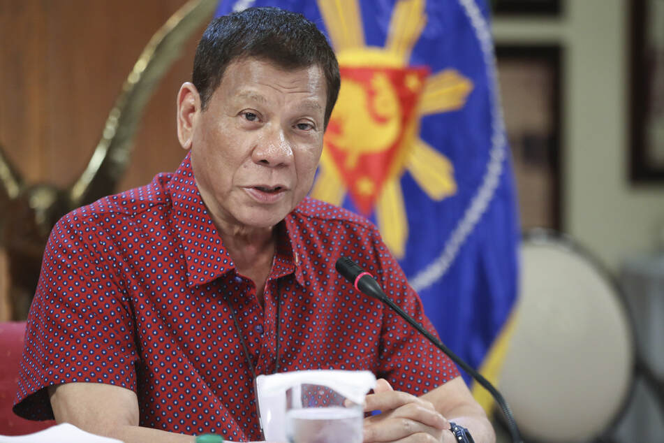 Rodrigo Duterte, President of the Philippines, during a cabinet meeting at Malacañang Palace.