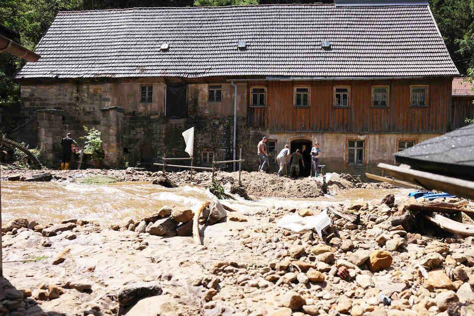 Auch der Osten wurde von Überschwemmungen heimgesucht, so wie hier in Bad Schandau.