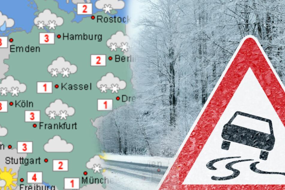 Schnee, Kälte, Glättegefahr: Der Winter hat Deutschland weiterhin im Griff