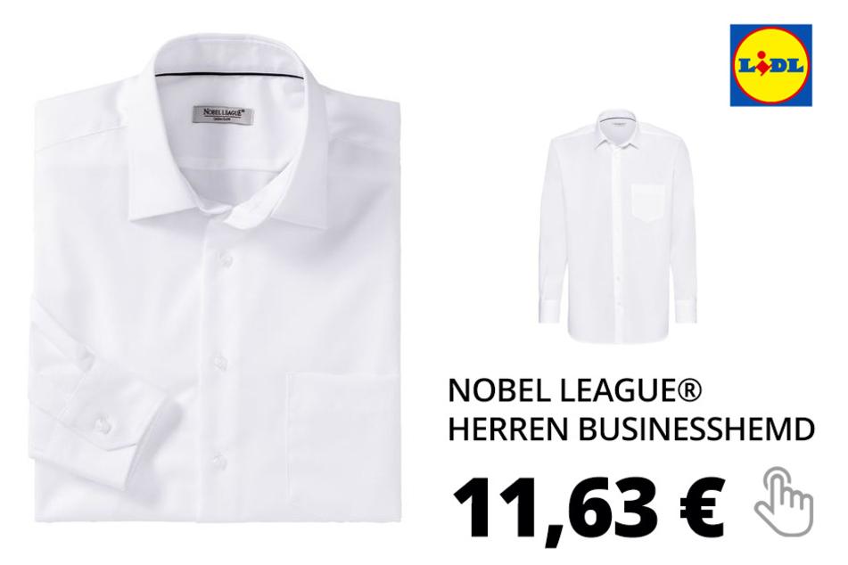 NOBEL LEAGUE® Herren Businesshemd – weiß
