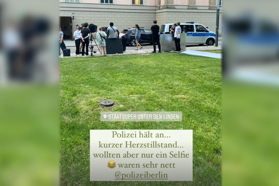 Bei einem Shooting in Berlin sah sich Rebecca Mir (29) plötzlich mit der Polizei konfrontiert.