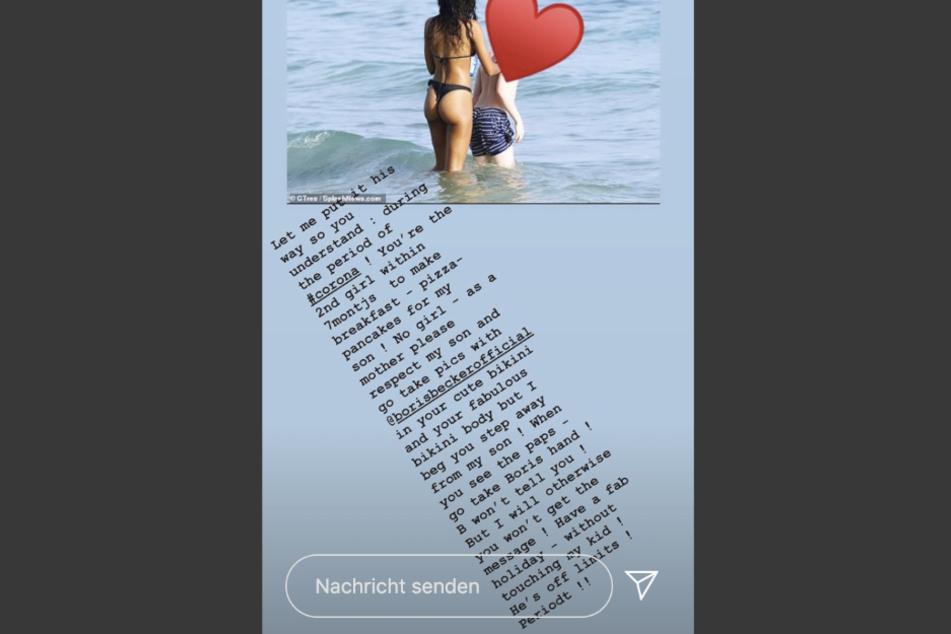 Auf Instagram macht Lilly Becker (44) ihrem Ärger Luft.