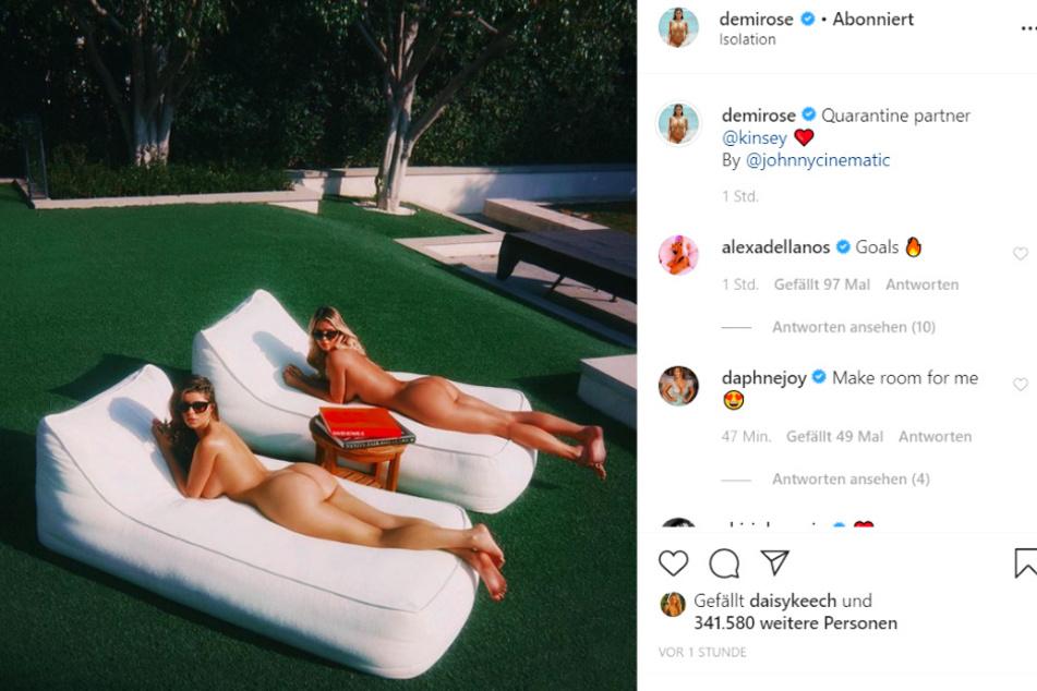 Demi Rose verzückt gemeinsam mitKinsey ihre Fans - dank viel nackter Haut!