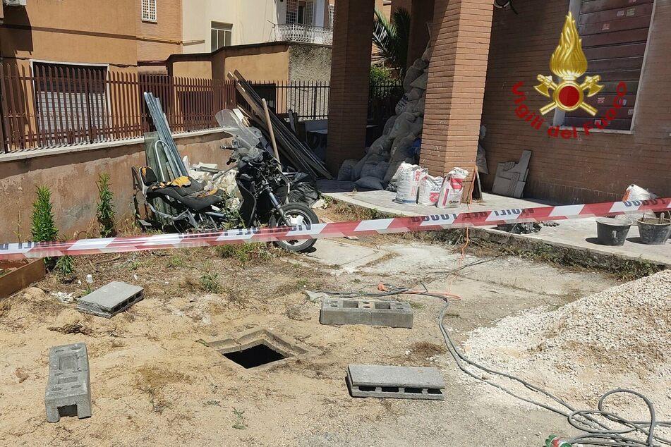 Der quadratische Schacht lag auf einer Baustelle inmitten der italienischen Hauptstadt.