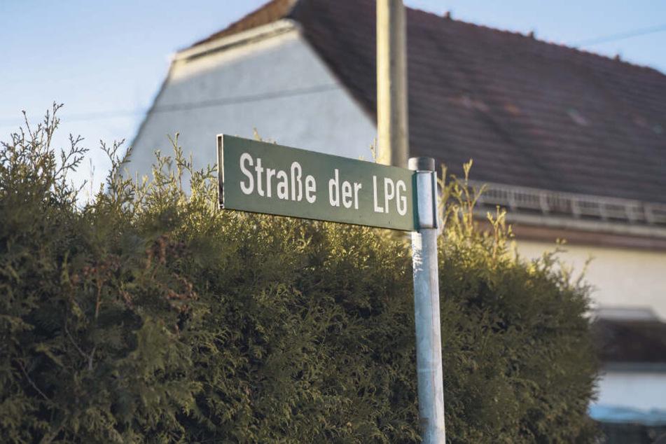 """Die """"Straße der LPG"""" könnte bald ein Informationsschild mit Erläuterungen zur Historie erhalten."""