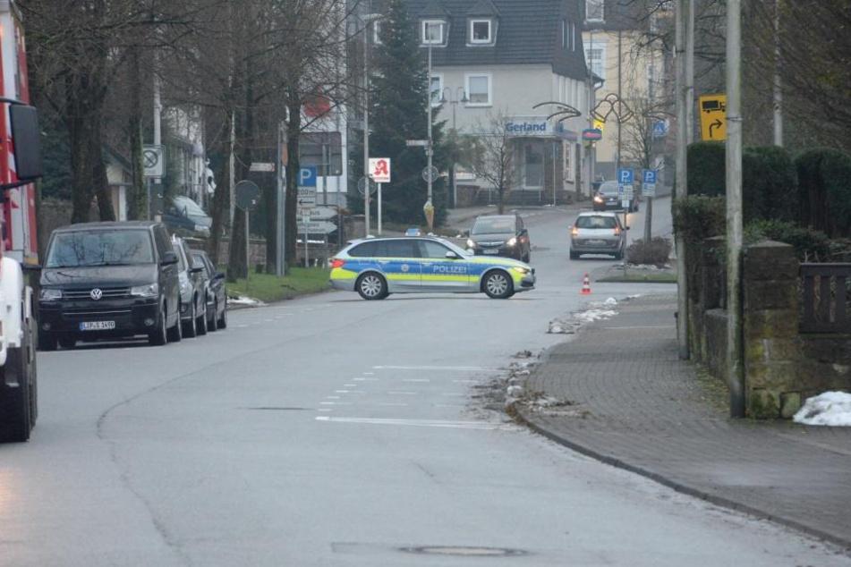 Die Rathausstraße musste gesperrt werden.