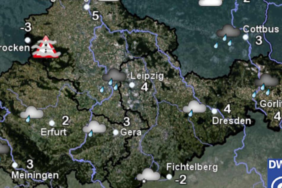 Aktuell ist es auf dem Fichtelberg am kältesten mit Minus zwei Grad.