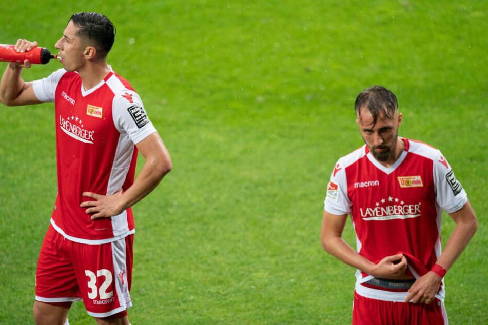 Enttäuschung: Die Unioner Florian Hübner (r.) und Robert Zulj konnten mit dem Remis in Bochum nicht zufrieden sein.
