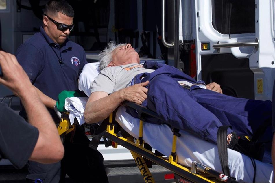 Mad Mike endete jedoch schnell wieder am Boden - leicht verletzt.