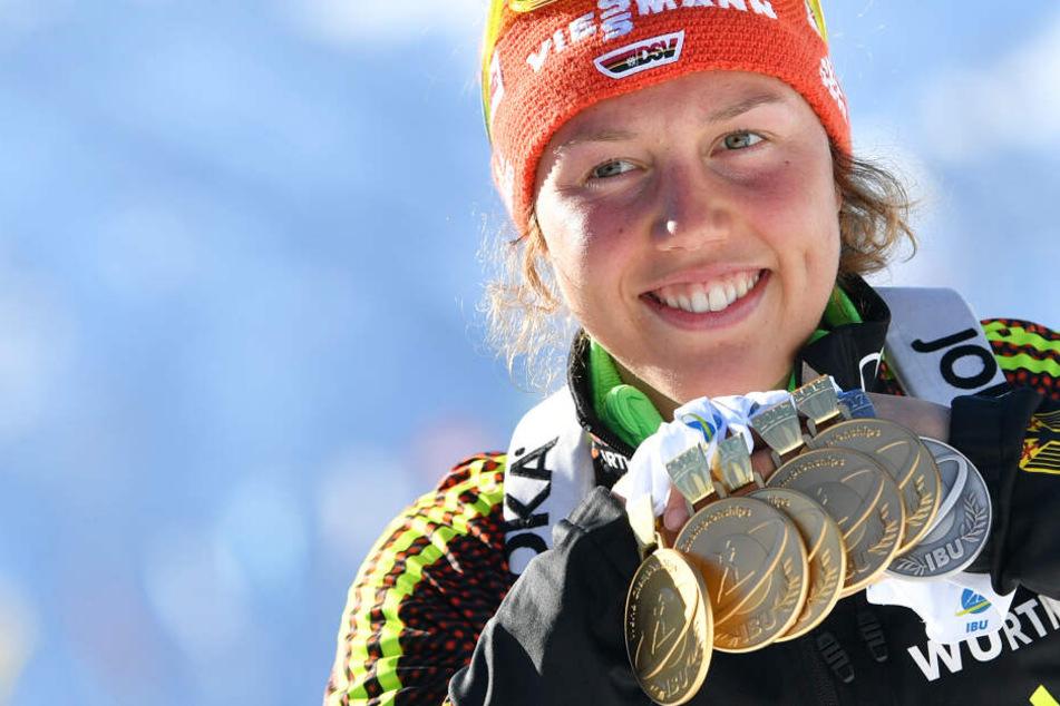 Erfolge, Medaillen, Titel: Laura Dahlmeier ist eine absolute Ausnahmeathletin im Biathlon.