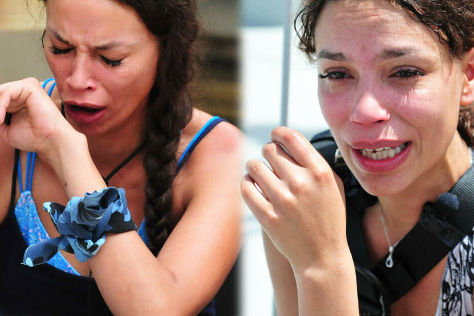 Die Fotomontage zeigt Gisele Oppermann einmal angeekelt (l.) und einmal in Tränen aufgelöst.