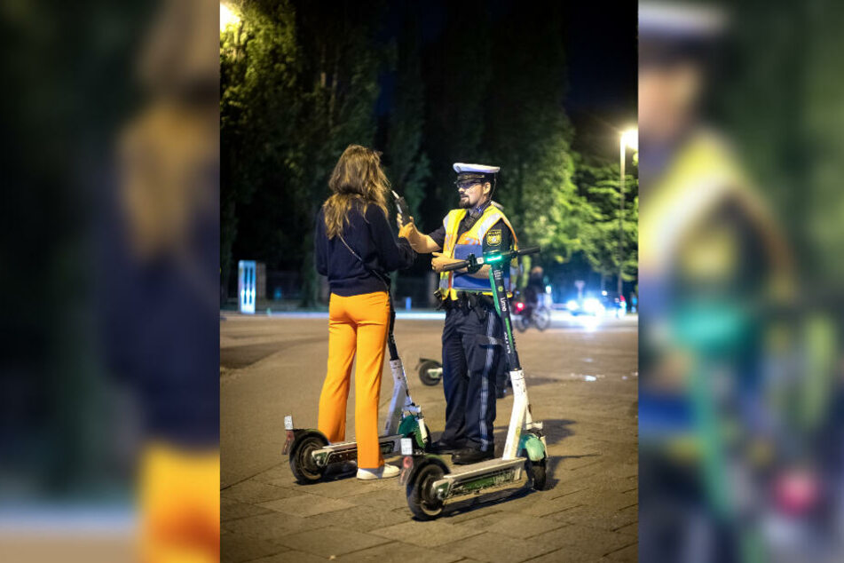 Die Polizei führte in München Schwerpunktkontrollen durch.