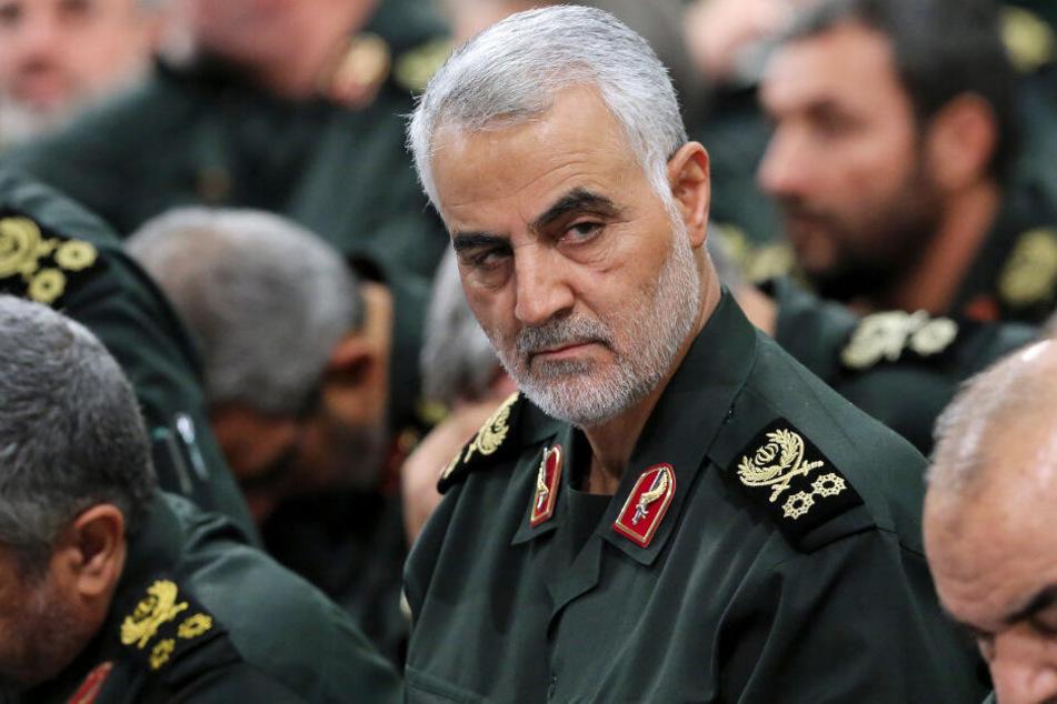 Ghassem Soleimani, der Kommandeur der iranischen Al-Kuds-Brigaden, bei einem Treffen in Teheran.
