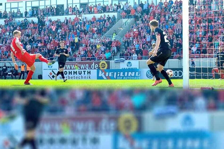 Lion Lauberbach hatte keine Mühe, gegen Würzburg zum 2:0 einzuschieben