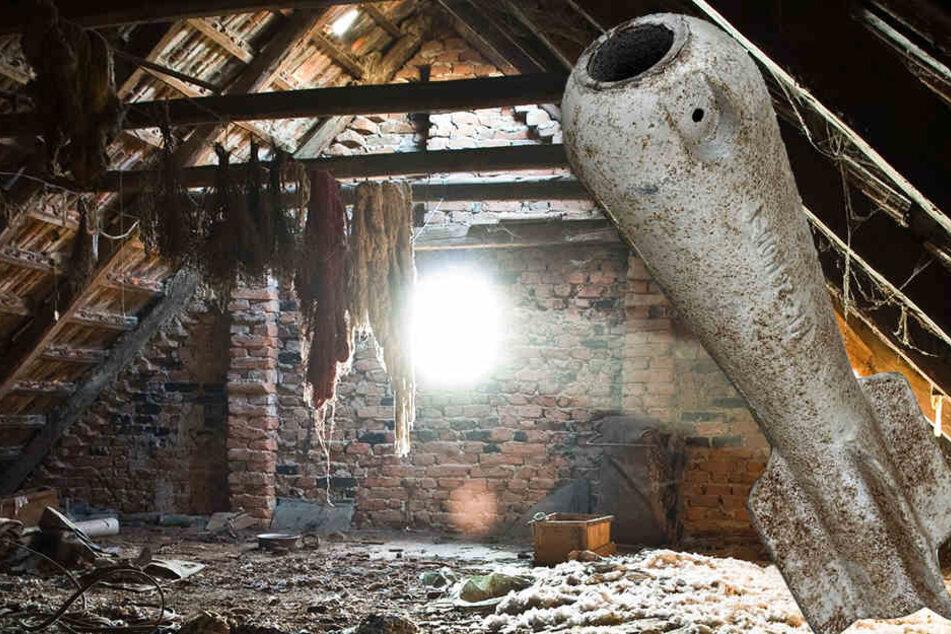 Mann findet explosive Granate und schleppt sie locker vom Dachboden