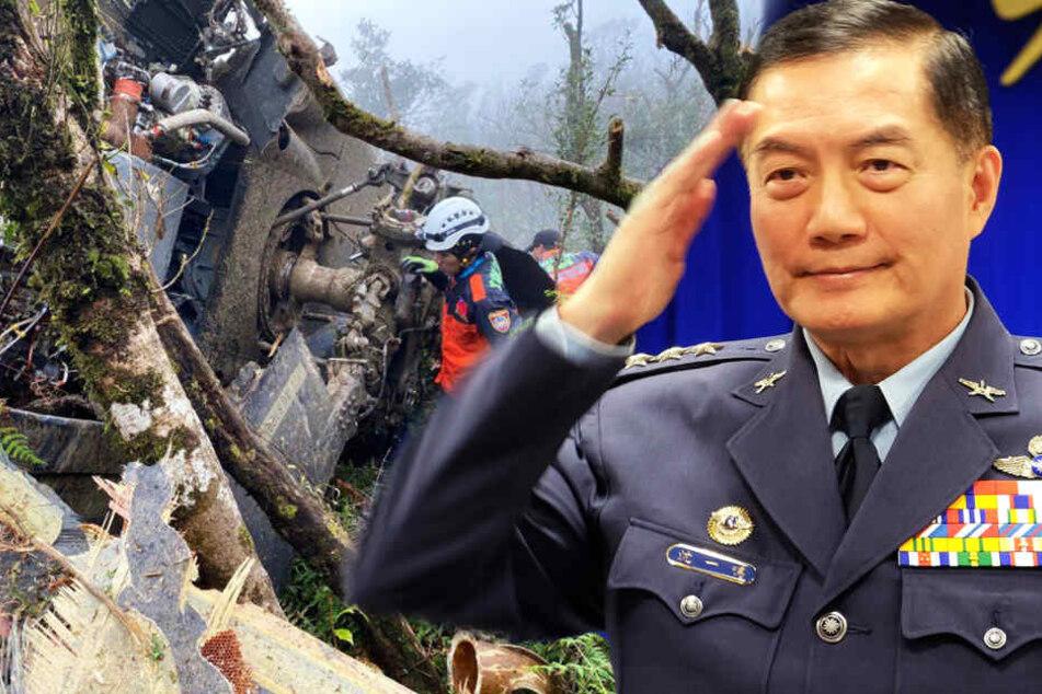 Hubschrauber-Absturz: Taiwans Militärchef und sieben weitere sterben!