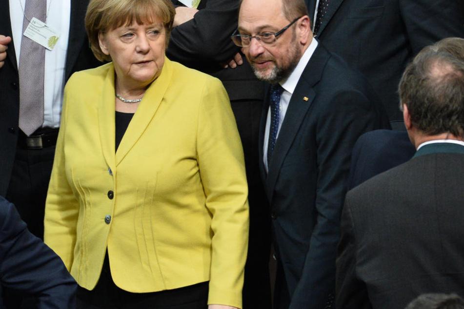 Die beiden werden am 24. September gegeneinander antreten: Kanzlerin Angela Merkel und SPD-Kanzlerkandidat Martin Schulz.