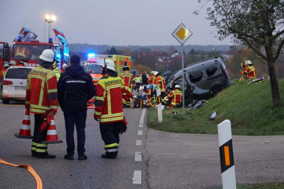 Die Unfallstelle nahe Erligheim.