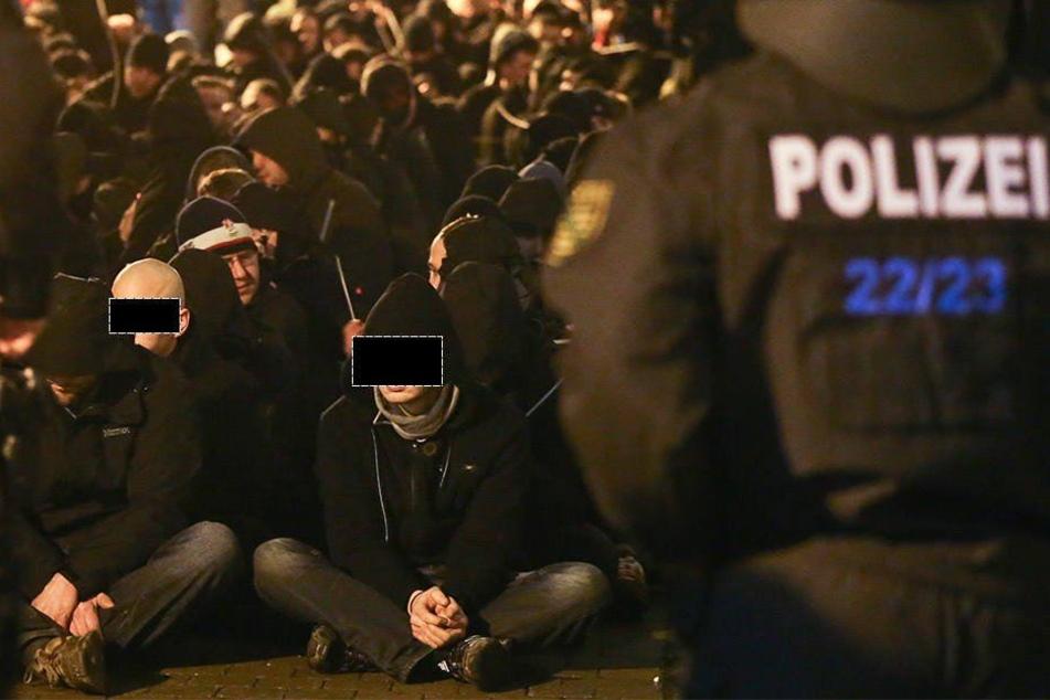 Etwa 215 Tatverdächtige wurden nach den Angriffen in Connewitz festgenommen.