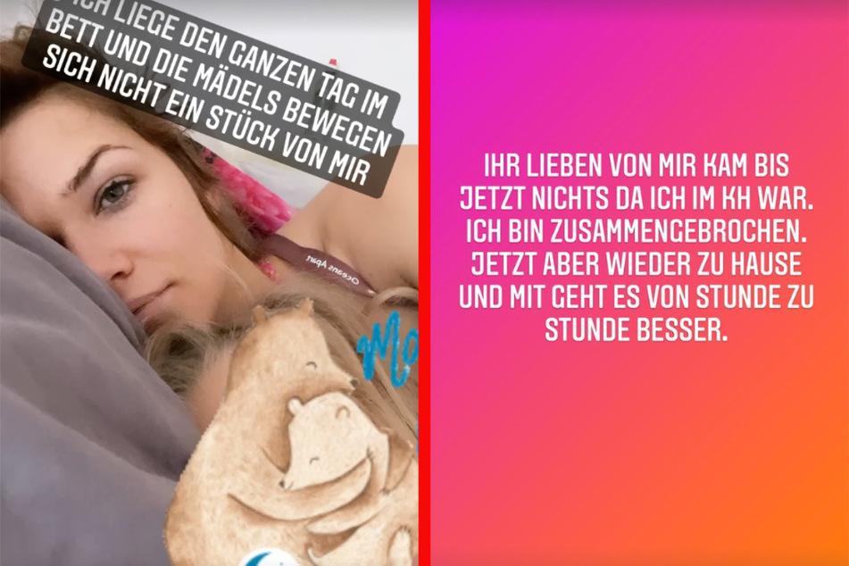 Warum Sara Kulka (30) im Krankenhaus war, verrät sie ihren Followern nicht, hat aber eine andere Botschaft.