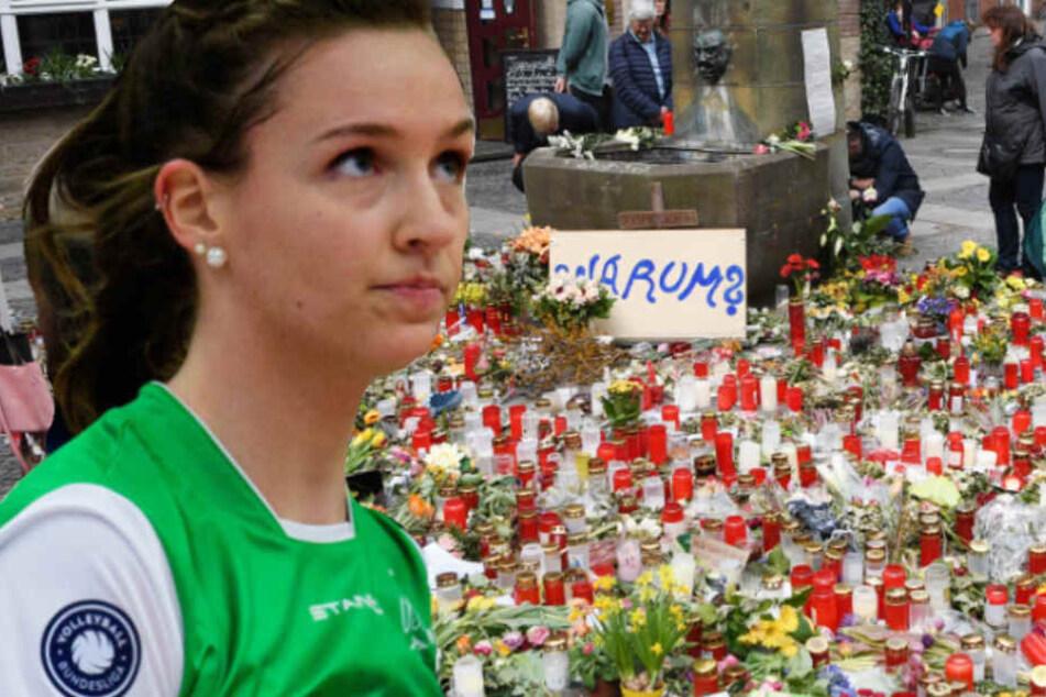 Fotomontage: An die schreckliche Amokfahrt hat Chiara Hoenhorst keine Erinnerungen.
