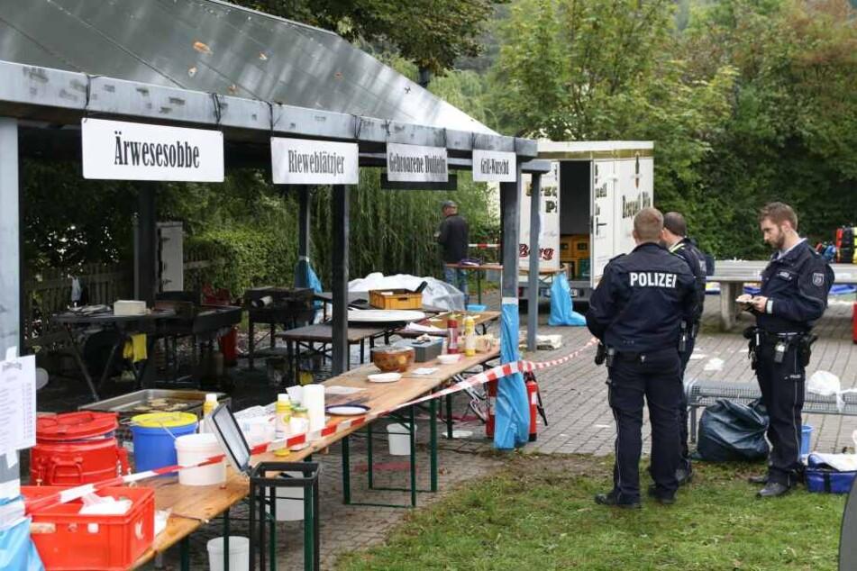 Der Tatort in Freudenberg: Auf einem Fest explodierte die Bratpfanne.