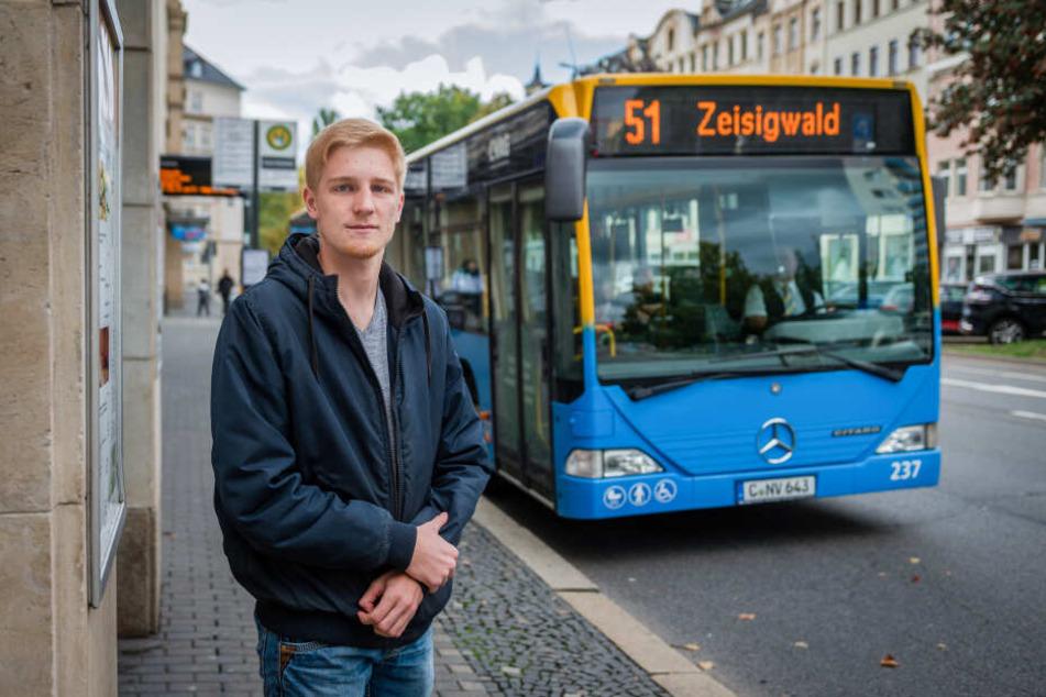 Tim Cieslok (18) wurde beim Buseinstieg geschlagen.