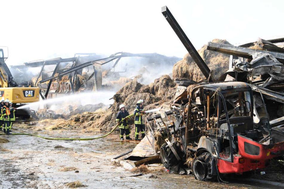 Ein Bild der Zerstörung: Vom Pferdehof ist kaum noch etwas übrig.