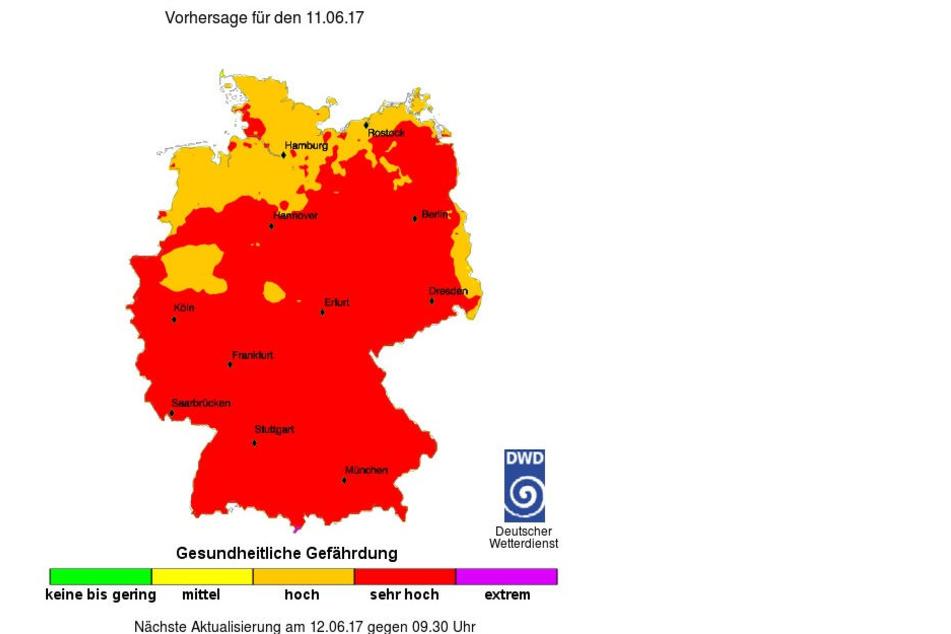 Heute solltet Ihr wegen des UV-Index im Schatten bleiben!