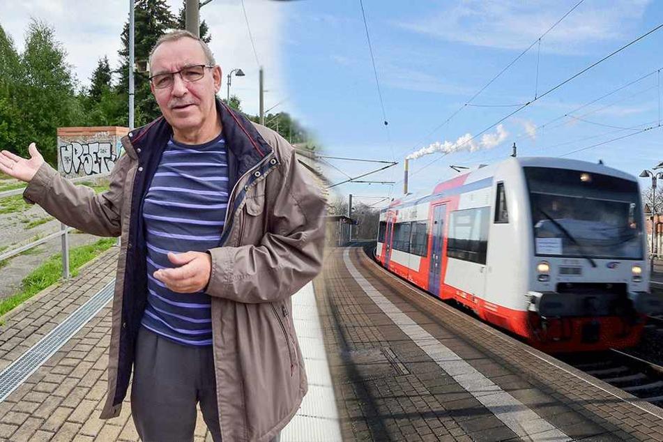 Chemnitzer fordern Bahn-Stopp in Hilbersdorf