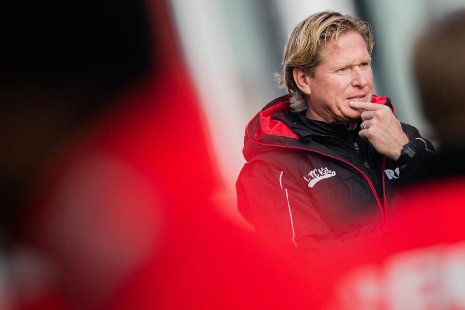 Markus Gisdol und der 1.FC Köln steigen am Montag wieder ins Training ein.