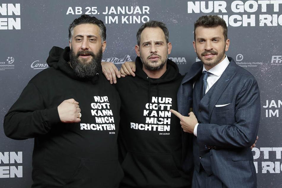 Ramadan mit seinen Kollegen Moritz Bleibtreu und Edin Hasanovic.