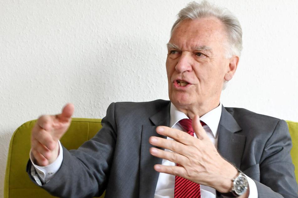 Der Bundesvorsitzende des Vereins, Jörg Ziercke, im Gespräch mit der Deutschen Presse-Agentur.