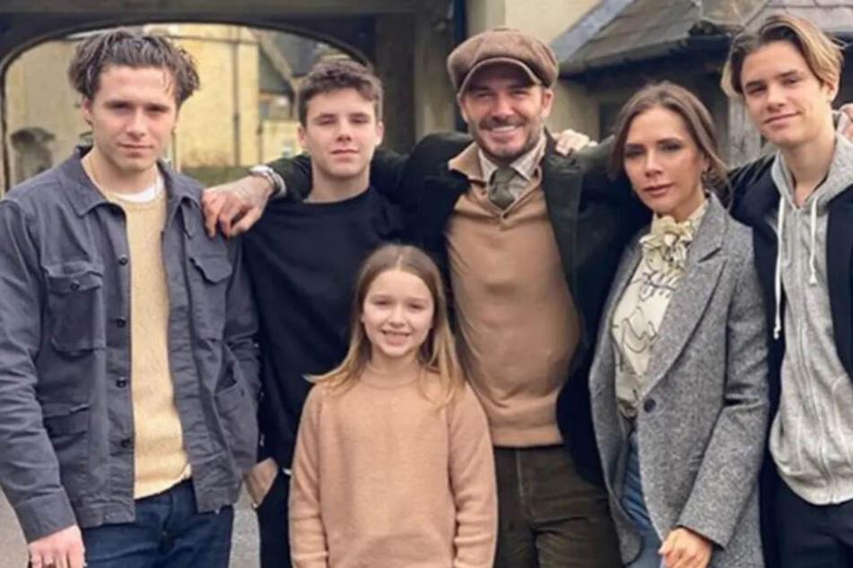 Hier nochmal die Beckham-Familie in der Nahaufnahme.