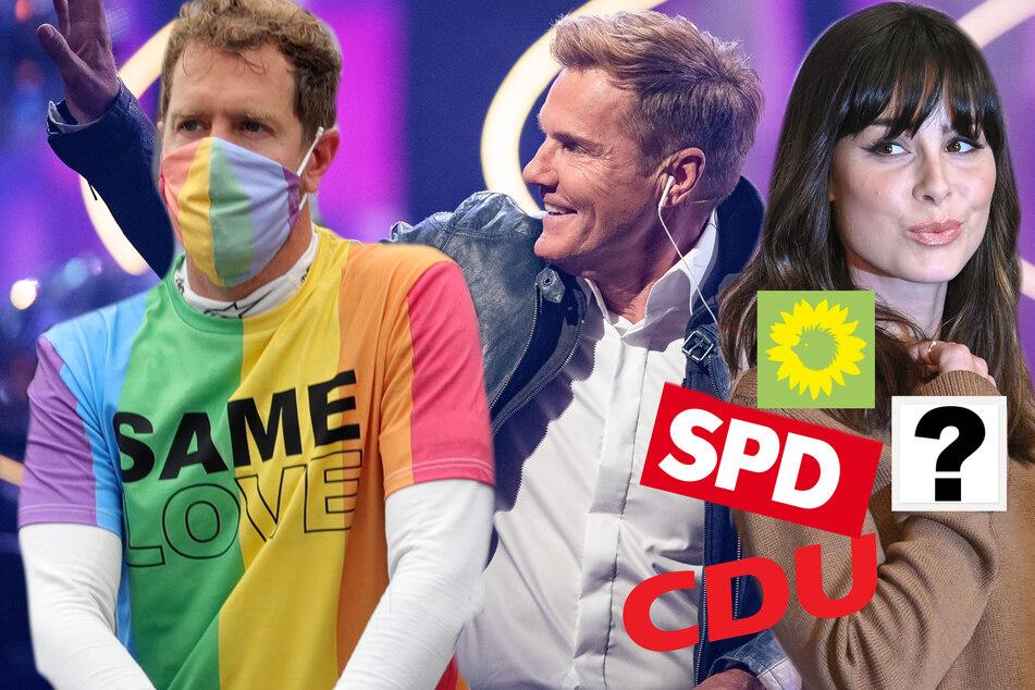 SPD, Grüne, CDU - oder doch eine andere Partei? Wen wählen die Stars?