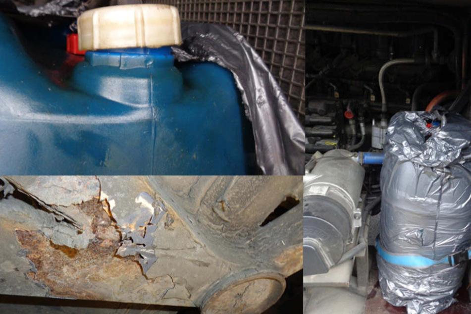 Das Hauptproblem waren allerdings die im Heck des Busses unfachmännisch angebrachten Dieseltanks, die für akute Brand-Gefahr sorgten.
