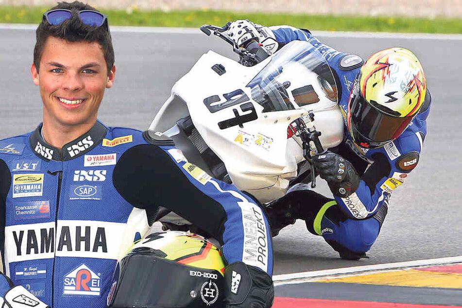 Mal testen, was der neue Asphalt so kann: Rennfahrer Max Kappler (19) durfte schon mal auf die neue Strecke.