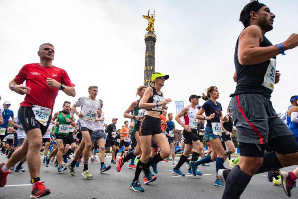 Knapp 47.000 Sportlerinnen und Sportler nahmen am Berlin-Marathon teil.