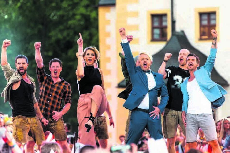 Bereits zum sechsten Mal stieg die große Schlager-Show im Wasserschloss Klaffenbach.