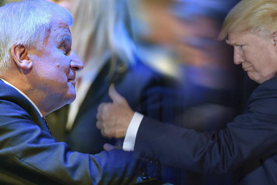 Seehofer: Donald Trump wäre in Bayernwillkommen