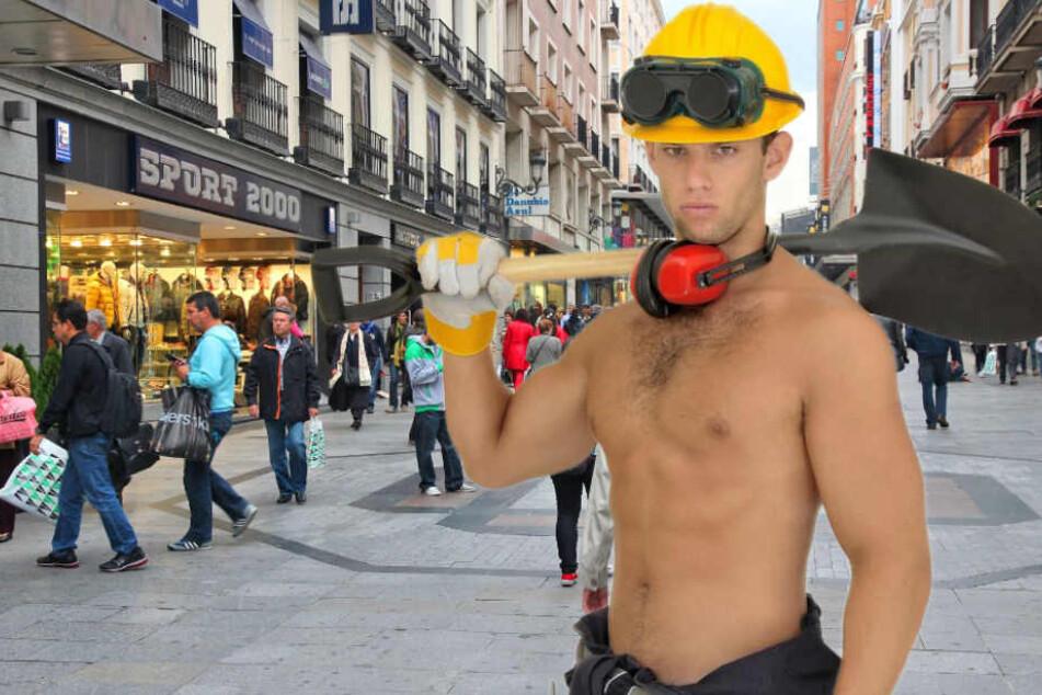 Schaufel gegen Klappmesser: Mutige Bauarbeiter stoppen Betrunkenen (Symbolbild).