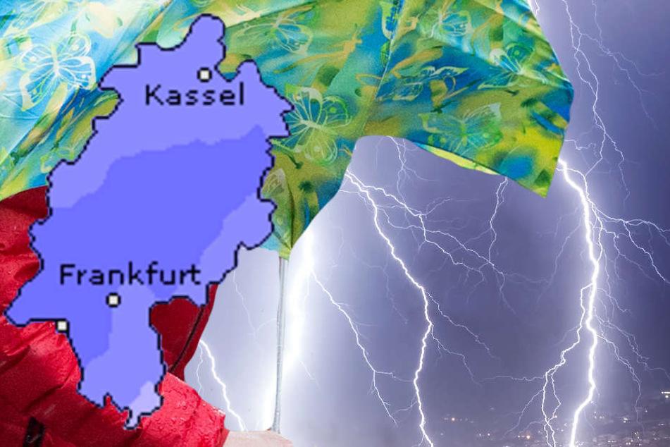 Die Hessen müssen sich auf Unwetter mit schweren Gewittern und Starkregen einstellen (Symbolbild).