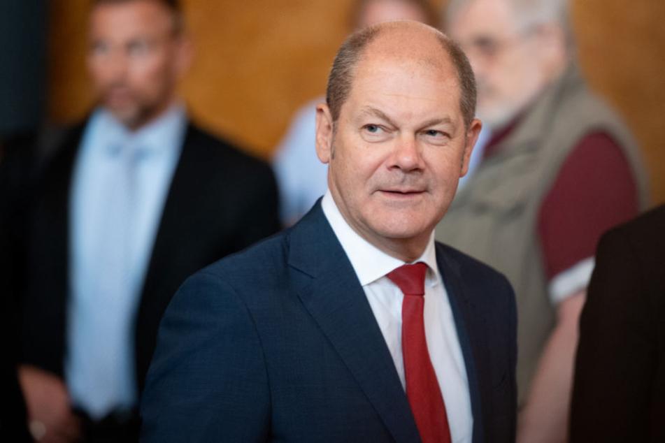 Olaf Scholz (SPD) äußerte sich am Donnerstag im Hamburger Rathaus.