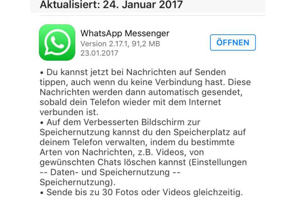 Bei vielen Geräten ist die neue Whatsapp-Version bereits verfügbar.