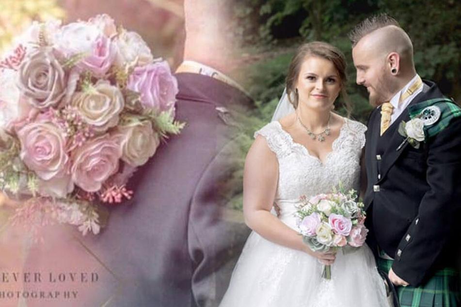 Auf den Hochzeitsbildern ist der Brautstrauß deutlich zu erkennen.