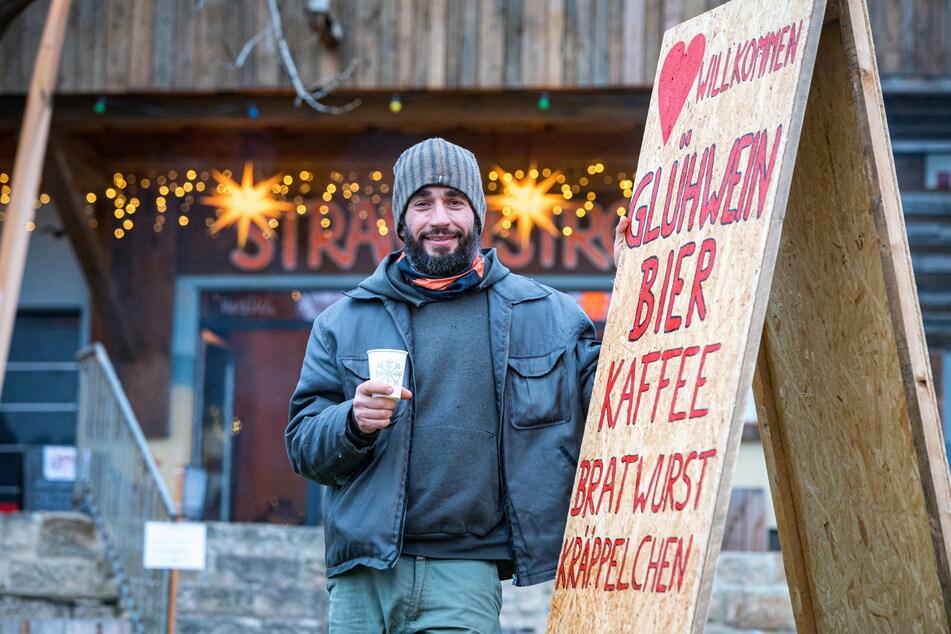 Citybeach-Chef Frank Weisbach (42) hofft, sein Advents-Bistro auch bei weiteren Verschärfungen der Corona-Maßnahmen betreiben zu können.