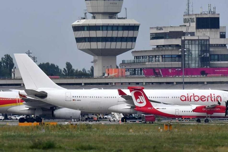Mehrere Flüge von Air Berlin fielen am Sonntag aus.
