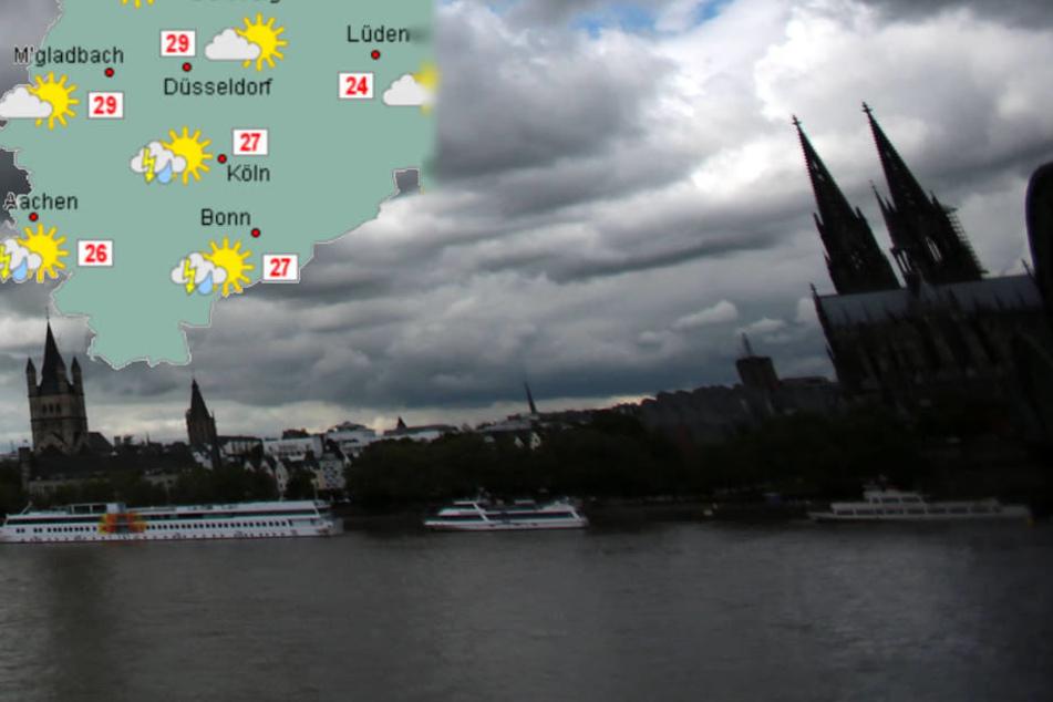 Am Mittwoch könnten Köln Gewitter drohen.