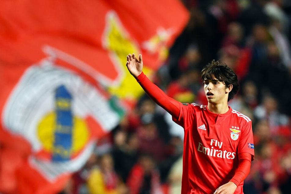 Joao Felix war an allen vier Benfica-Toren gegen Eintracht Frankfurt direkt beteiligt: Dreimal traf er selbst, das andere Tor bereitete er vor.
