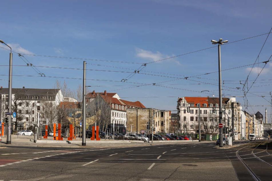 Der Tatort: Koreanischer Platz in Dresden-Friedrichstadt.